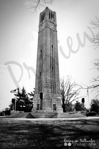 Living on Saltwater Photography - NCSU Bell Tower