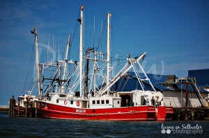 Living on Saltwater Photography - Shrimping Boat