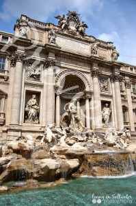 Living on Saltwater Photography - Trevi Foutain Rome Italy