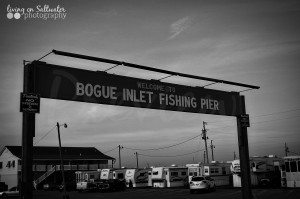 Living on Saltwater Photography -Bogue Inlet Pier Sign